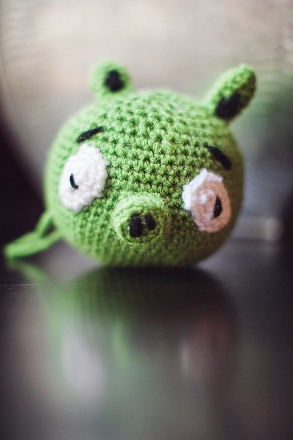 Crocheted Green Pig Pattern