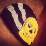 Striped Skull Baby Beanie