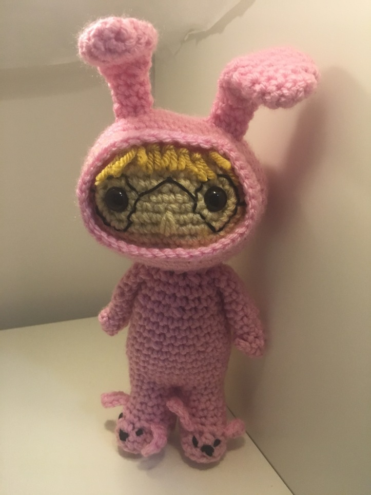 Crocheted Ralphie from A Christmas Story