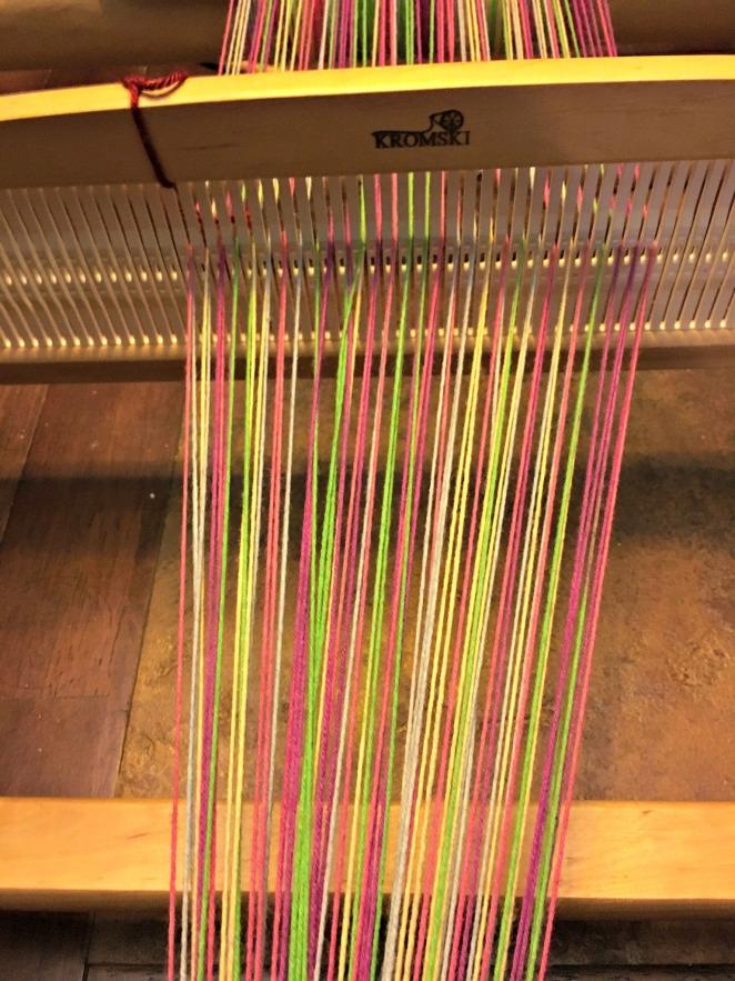 Warping the loom